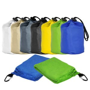 ATTW013 – Super Absorbent Microfibre Towel with carabiner hook & pouch