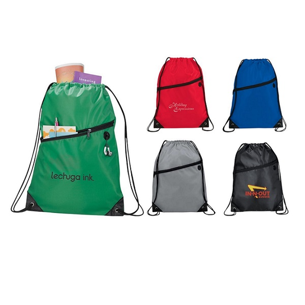 BGDS004 – Drawstring Backpack with front zipper pocket
