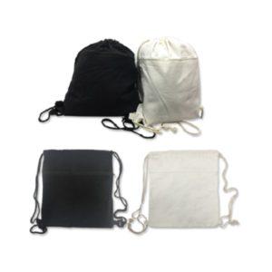BGDS016 – 8oz Cotton Canvas Drawstring Bag with zip compartment