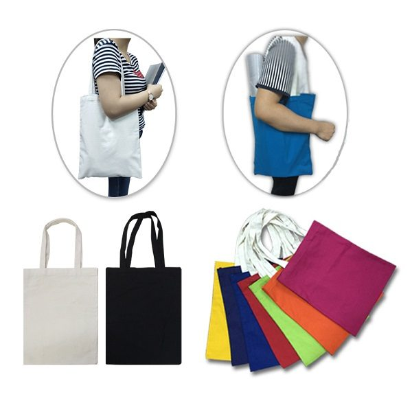 BGTS037 – 10oz Cotton Canvas Bag with White Handle
