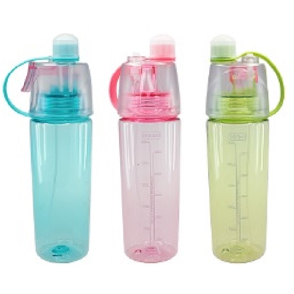 DWBO093 – 600ml Mist Bottle with Leak-proof Silicone Cup and Spray
