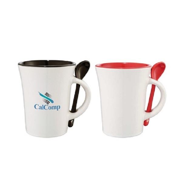 DWMU084 – Ceramic Mug with Spoon