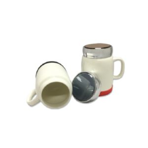 DWMU086 – 400ml Porcelain Mug silver lid & Silicon Base