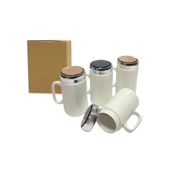 DWMU087 – 400ml Porcelain Mug with cover