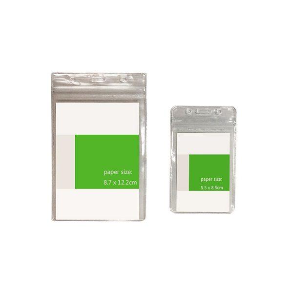 LFCD049 - PVC Transparent Card Holder with zip lock