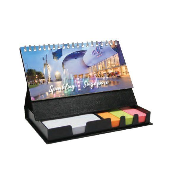LFCL039 – Black Memo Box with Wire-O Calendars & Gift Box