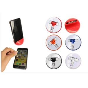 LFMA009 – 3 in 1 Phone holder with earbuds and stylus