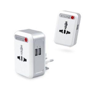 LFTA026 – Universal Travel Adaptor With 2 USB Hub