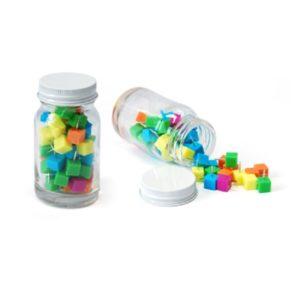 STCL004 – Cube Shape Push Pin in Glass Jar