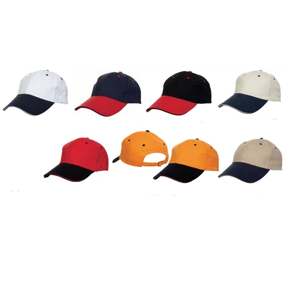 ATCP012 – Baseball 6 Panel Cotton Brush Cap