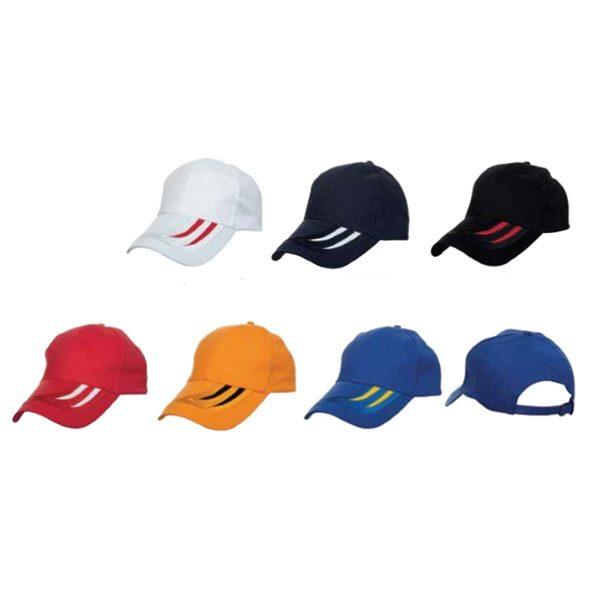 ATCP017 – Baseball 6 Panel Cotton Brush Cap