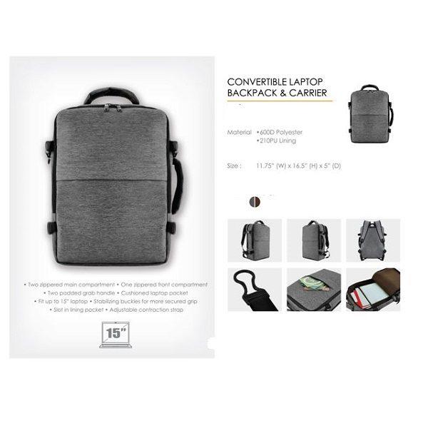 BGBP061 – Convertible Laptop Backpack & Carrier