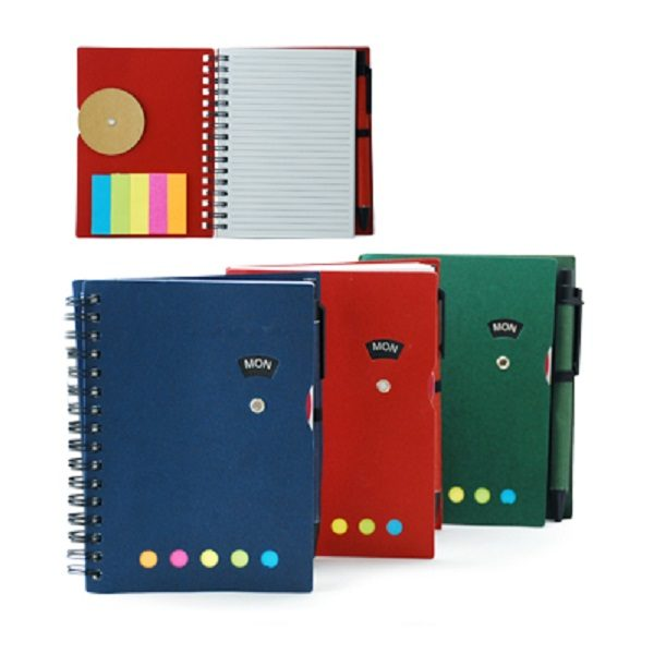 STNB014 – Notebook with Post It Pad and Pen
