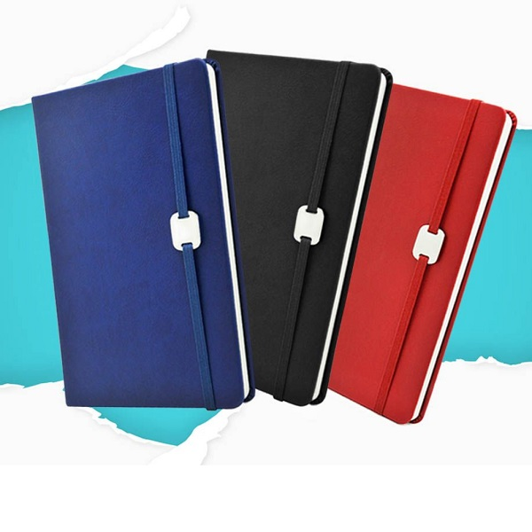 STNB024 – A5 Hard Cover Notebook with Metal Plate