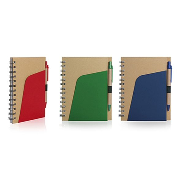 STNE022 – Eco-Friendly Notebook with Pen and Pocket