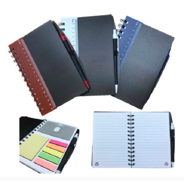 STNB068 - Notebook with Ruler, Sticky Notes & Pen