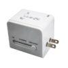 LFTA039 – World Travel Adaptor with 2 USB ports in Grey Pouch