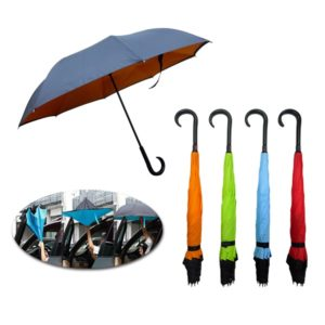 LFUM042 – 23″ x 8 panels Inverted Umbrella with J hook handle