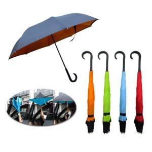 LFUM042 – 23″ x 8 panels Inverted Umbrella with J hook handle
