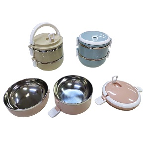 LFLB021 – 2-Tier Stainless Steel Lunch Box
