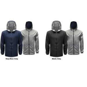 ATJK031 – 50D High Density Polyester Reversible Hoodie Jacket