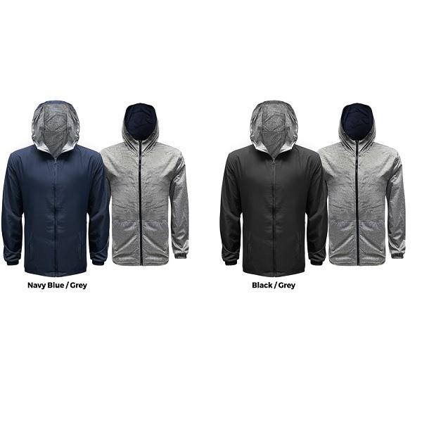 ATJK031 – 50D High Density Polyester Reversible Hoodie Jacket
