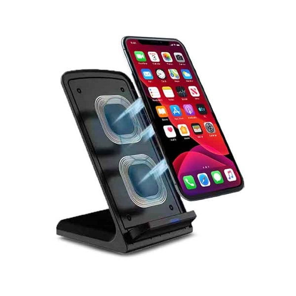 ITOT036 – MOBILE STAND 10W FAST CHARGE With Dual Coil Wireless Charger