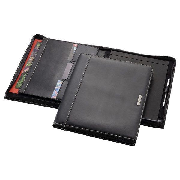 STFO051 - A4 Zipper Leather Portfolio