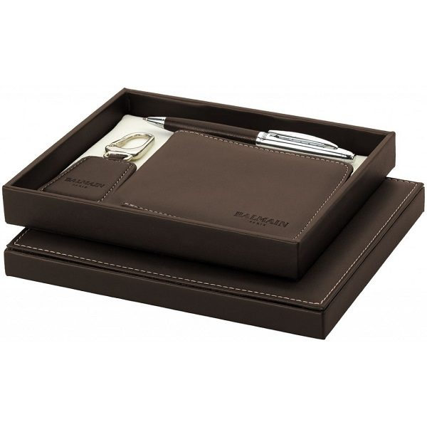 WIMT091 - Ballpoint Metal Pen & Leather Gift Set