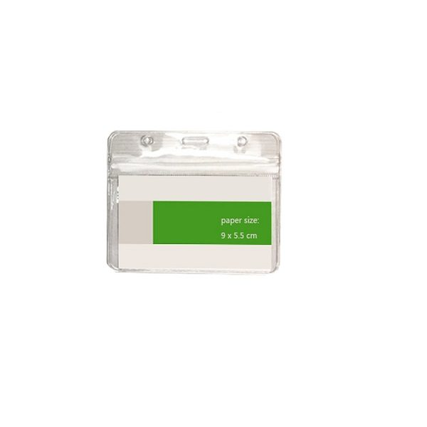 LFCD050 - PVC Transparent Card Holder with zip lock