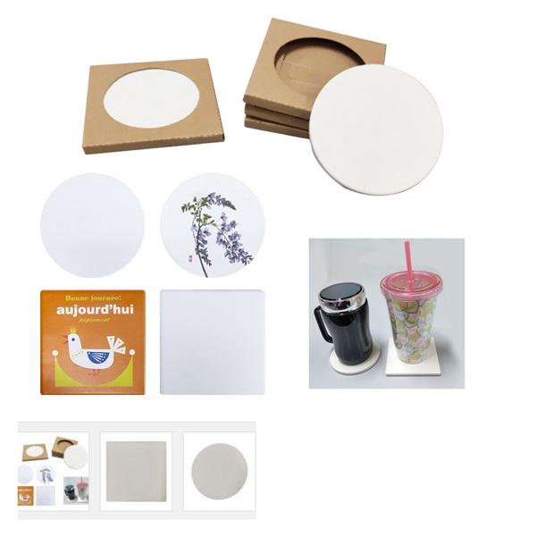 LFCO008 - Ceramic Coaster with kraft box