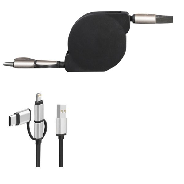 ITCB031- Retractable 3-in-1 Cable
