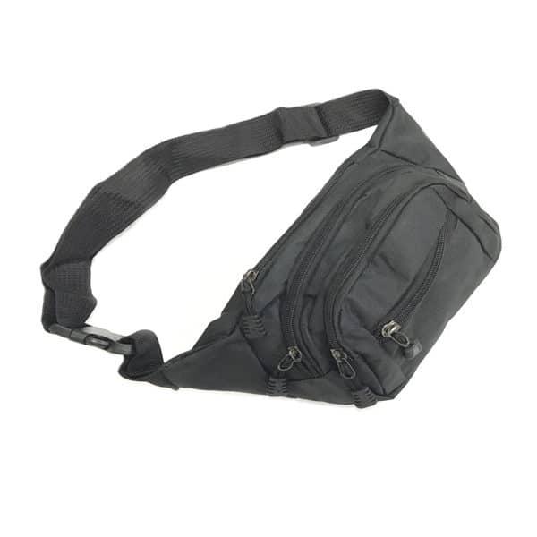 BGOT037 - 300D Nylon Waist Pouch with 4 zip comparments