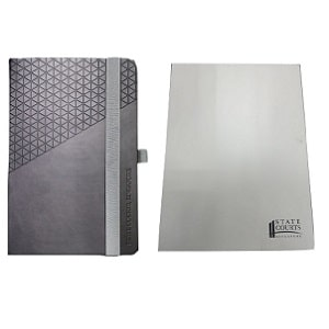 State courts notebook with cover print