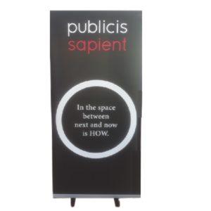 publicis pullup banner black
