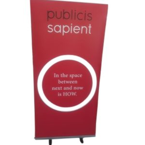 publicis pullup banner red