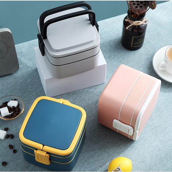 LFLB023 – Double Layer Square Lunch Box