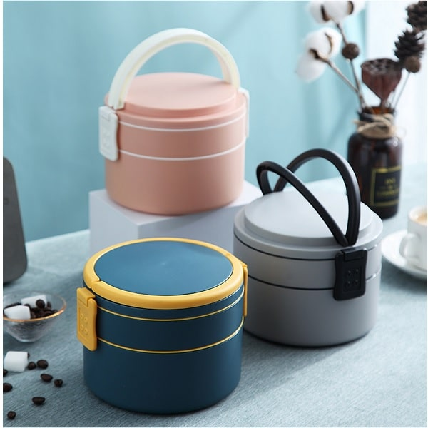 LFLB024 – Double Layer Round Lunch Box