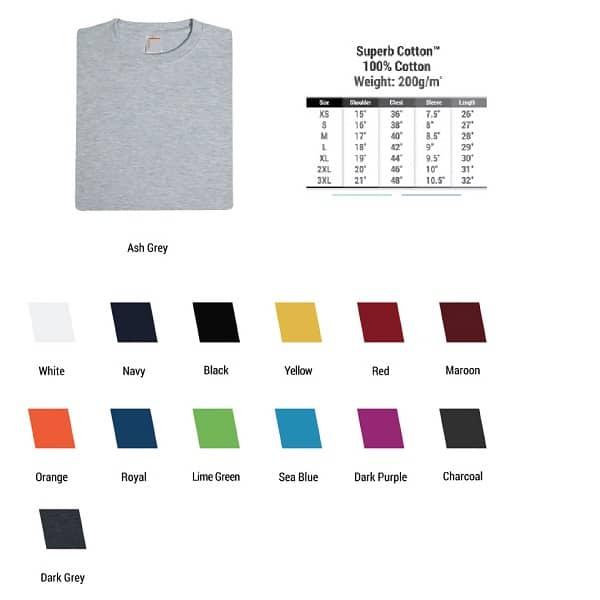 ATTS003 – 200gsm T-shirt